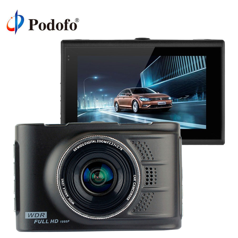 Podofo Car DVR Camera Registrator Video-Recorder Dash-Cam 170-Degree Novatek 96223 Full-Hd