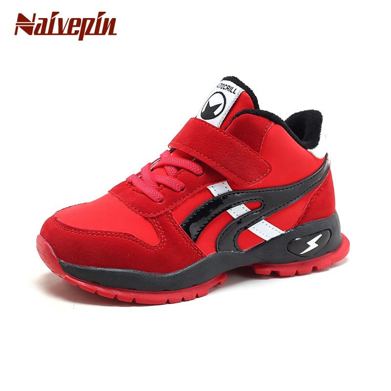 Boys Trainers Breathable Sneakers Sport Shoes Childrens Casual Running School Casual Shoes for Spring Atumn Winter Red Gray