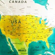 Мир Географические карты отрывать Географические карты Ocean персонализированные deluxe путешествия издание отрывать Наклейки мира Географические карты плакат Настенный декор 81.5×57.5 см
