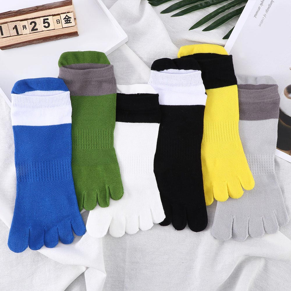 Men's Socks Five Finger Sock 1 Pair Men Mesh Sports Running Five Finger Toe Socks Comfortable Breathable Socks