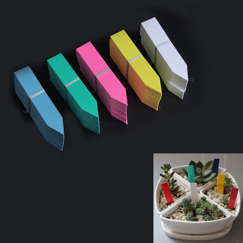 50*10 mm/Plastic Many colors Stake -type kindergarten plants Labels flower pot thick tag marker for plants  garden 50 pcs50*10 mm/Plastic Many colors Stake -type kindergarten plants Labels flower pot thick tag marker for plants  garden 50 pcs