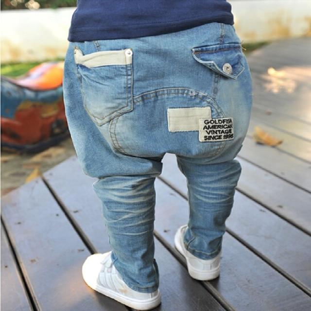 de4a34430 Hot Sale Boys jeans kids boy clothes baby Boys girls Harem Denim ...