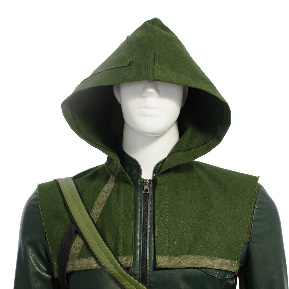 Quality Superhero Green Arrow Hoodie Cosplay Costume Oliver Queen Hoodies Carnival Costume