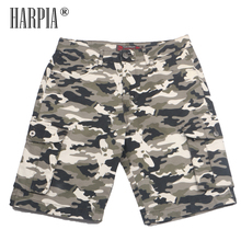 Harpia New Summer Men's Camo Shorts Male Camouflage Loose Cargo Shorts Men Army Green Large Size 38-53 Cool Military Short Pants fashion boys camouflage shorts summer cotton trousers kids army cool pants children loose sport camo shorts sweatpants