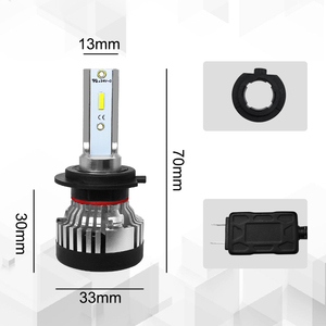 Image 5 - Roadsun פנס LED הנורה H4 Led H7 פנס אור CSP שבב H11 רכב 9005 9006 HB4 10000LM 12V 24V רכב אוטומטי מנורות