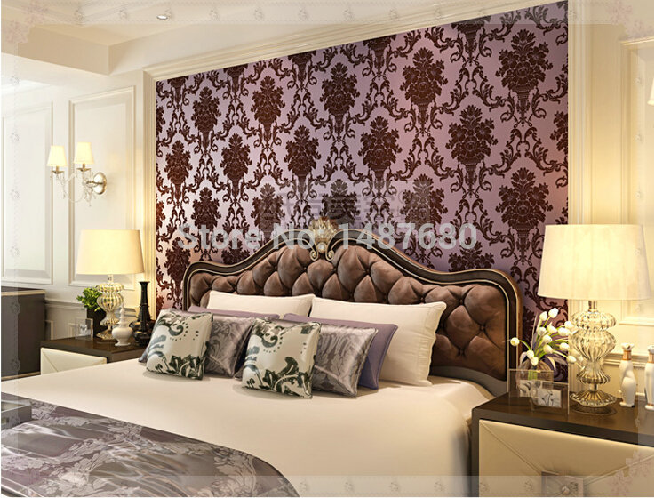 Damask 3D Wall Paper Desktop Wallpaper Mural Imitation Non Woven Feature Roll For Living Room Bedroom Sofa In Wallpapers From Home
