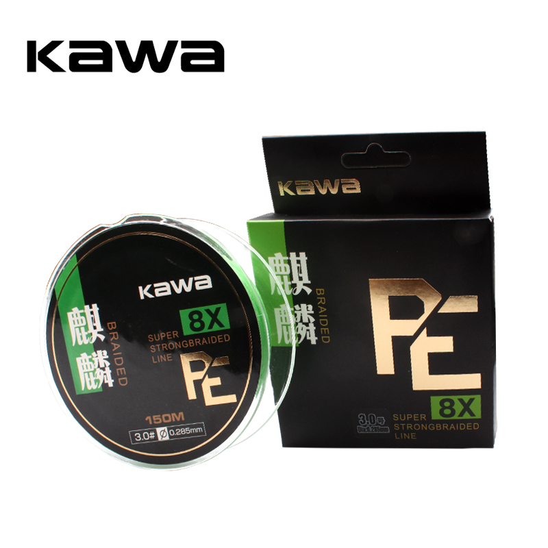 KAWA Fishing PE Line, 8 braided 150M, Soft and Strong, protofilament Imported from Janpan, High Quality, Free shipping