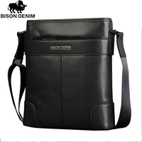 Bison Denim Frist Layer Cowhide Handbag Messenger Bag For Mens Business Leisure Free Shipping