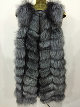 sliver fox fur vest for women winter jacket