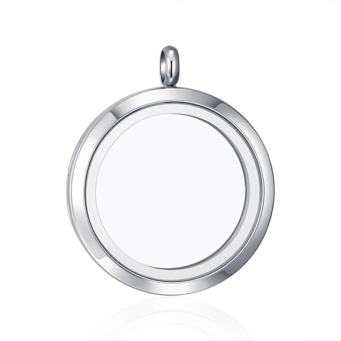 10 шт. 316L нержавеющая сталь 25 мм 30 мм 38 мм магнитный простой стеклянный медальон для ожерелья пользовательские Плавающие Подвески Keepsaking Рождественский подарок