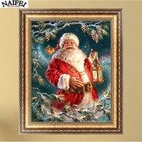 5D Diamond Painting Cross Stitch Pattern Diamond Embroidery Christmas Santa Claus Mosaic Full Drill Home Decor