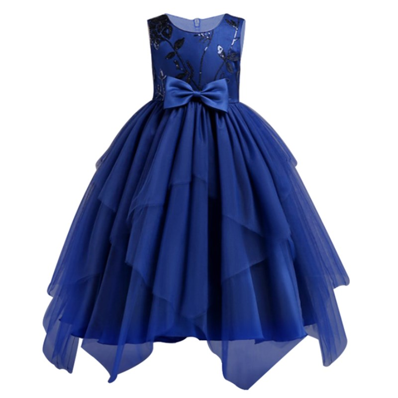 2-14 Years Teenager Sequins Embroidery Girls Princess Children Christmas Girl Dress For Wedding Party Prom Dresses