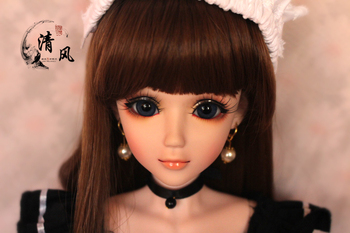 FULL SET Top quality pvc doll 1/3 girl bjd 60cm wig clothes shoes all included! night lolita reborn baby doll best Nico the maid цена 2017