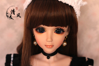 FULL SET Top quality pvc doll 1/3 girl bjd 60cm wig clothes shoes all included! night lolita reborn baby doll best Nico the maid