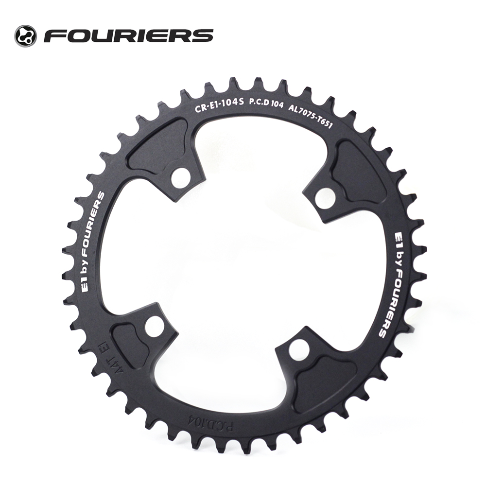 Fouriers MTB Single Chainring BCD 104mm Chain Ring Circle Narrow Wide For M780 610 M670 M590 32T to 54T Chainwheel Bike Parts octane one звезда evo bcd 4 x 104mm 38t зелёная