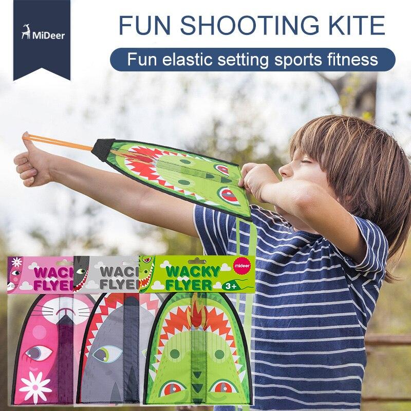 MiDeer Wacky Flyer Kids Fun Toy Cartoon Animal Shooting Kite Boy New Outdoor Game Sport Slingshot Flying Toys for Children ...