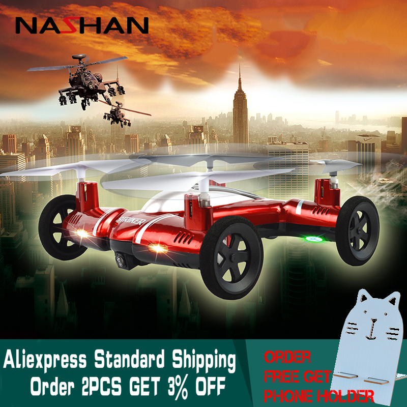 Nashan Remote Control Drone Rc Helicopter with Camera 2.4G 2 in 1 Flying Car 6-Axis 4CH RC Quadcopter Drone Helicopter Toy Gifts