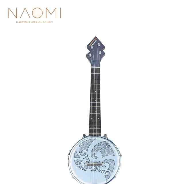 US $159 99 |NAOMI Ukulele Banjolele Tenor Banjo Ukulele Banjolele W/Gig Bag  +Tuner + Strap New-in Ukulele from Sports & Entertainment on