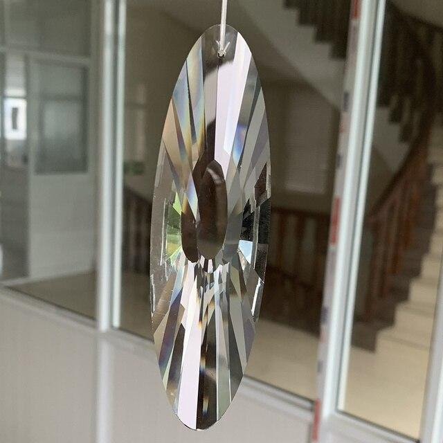 120 MM Facettierte Glas Kristall Suncatcher Reiki Prism Kronleuchter Teil Hängen Anhänger Mobile Decor Kunst-in Kronleuchter Kristall aus Licht & Beleuchtung bei