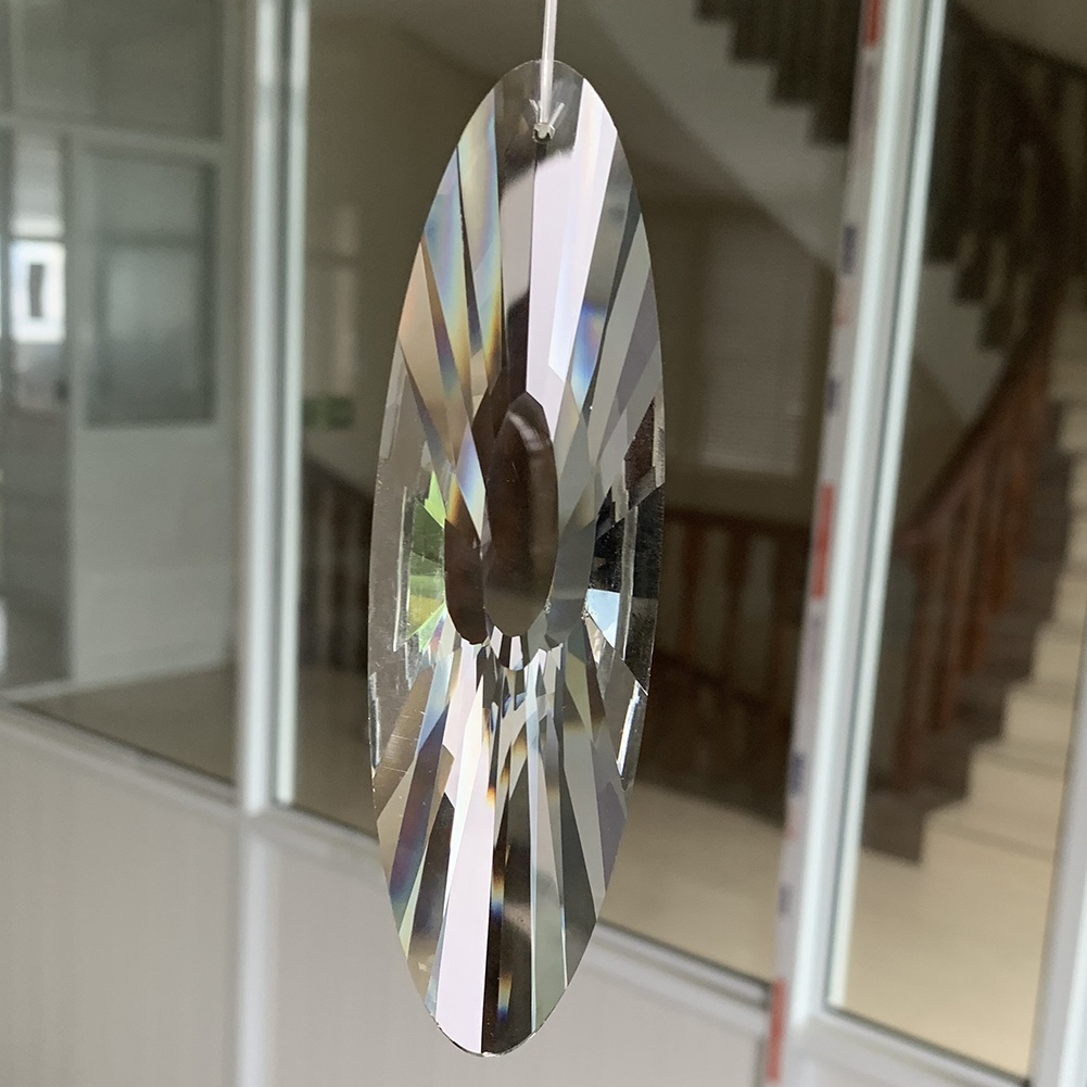 120MM Faceted Glass Crystal Suncatcher Reiki Prism Chandelier Part Hanging Pendant Mobile Decor Art
