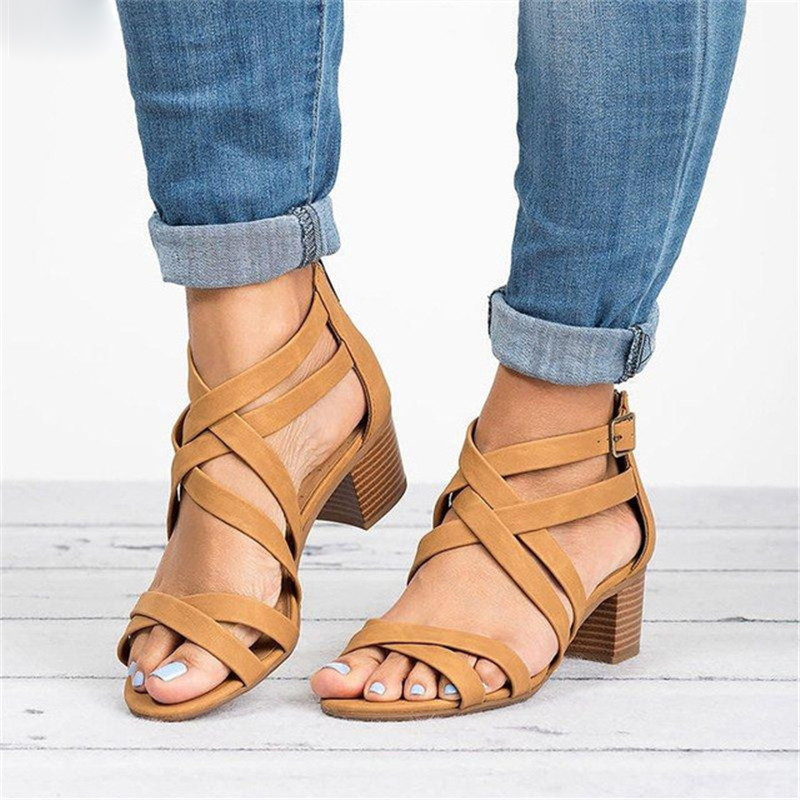 Tangnest Summer Heeled Sandals Women Open Toe Cover Heel Med Heels Casual Pumps Cross Belted Shoes Woman Plus Size 34-43 XWZ5890Tangnest Summer Heeled Sandals Women Open Toe Cover Heel Med Heels Casual Pumps Cross Belted Shoes Woman Plus Size 34-43 XWZ5890
