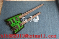Free Shipping New Big John Double Neck 4 Strings Headless Electric Bass And 6 Strings Electric