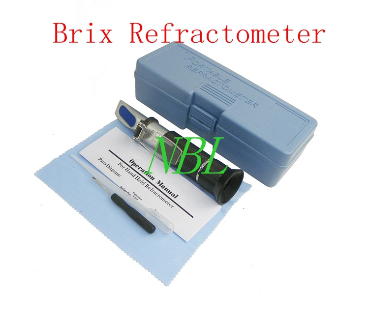 Hand Held Brix Refractometer For Sugar Beer Brix Test Optical 0-32% Brix ATC Refractometer Meter With Retail Box Brand New  цены