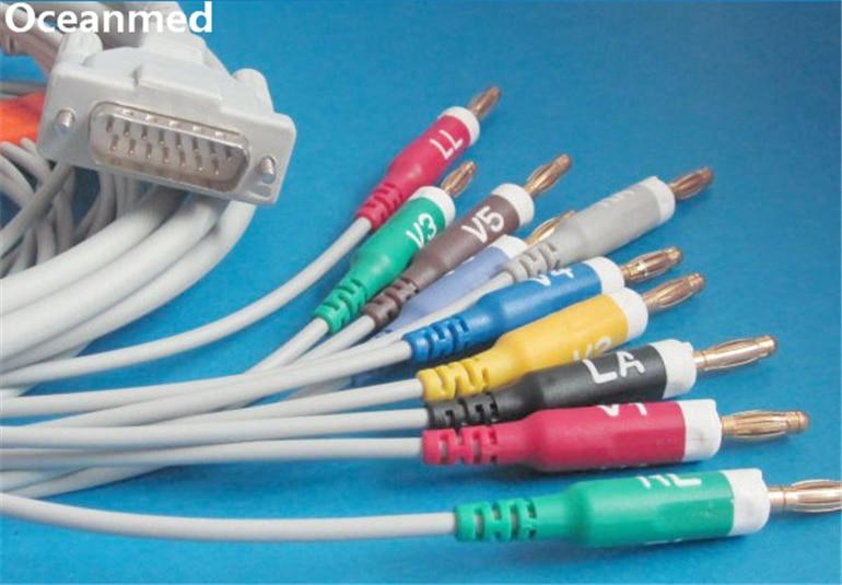 Schiller ECG EKG câble pour Bionet, Welch Allyn, Compatible 293-032-60, 10 fils banane AHA