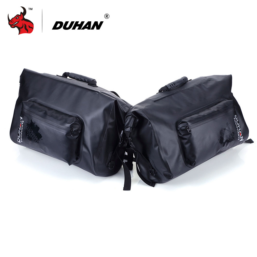 DUHAN Motorcycle Waterproof Saddle Bags Riding Travel Luggage Moto Racing Tool Tail Bags black Multifunction Side bag 1 pair for harley yamaha kawasaki honda 1 pair universal motorcycle saddle bags pu leather bag side outdoor tool bags storage undefined