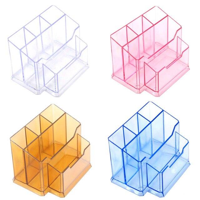 Pens Holders Acrylic Nail Art Tools Holder Box Files Brushes Display Organizer Polish Plastic Case Makeup Tool 14 x 10 cm