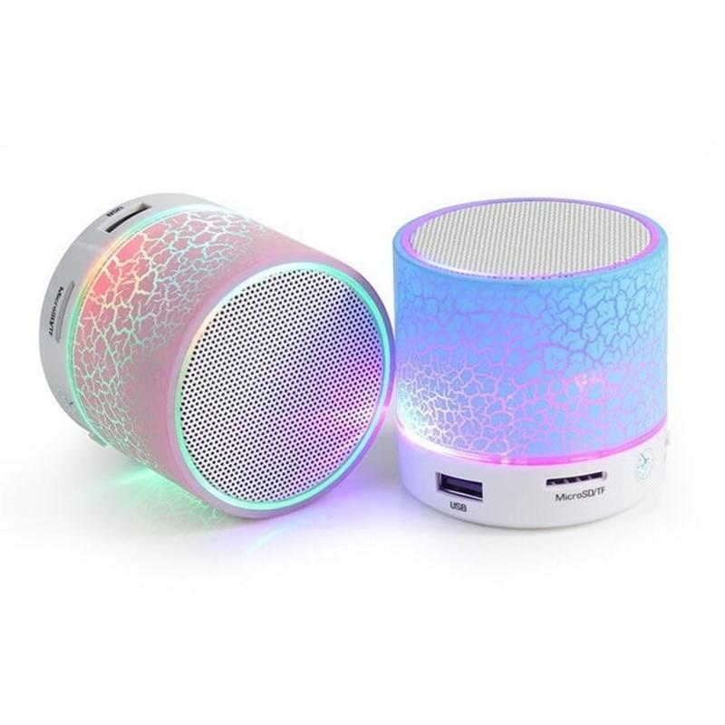 LED Mini haut-parleur Bluetooth sans fil TF USB haut-parleurs de musique portables appel mains libres pour iPhone 6 téléphone Portable PC avec micro