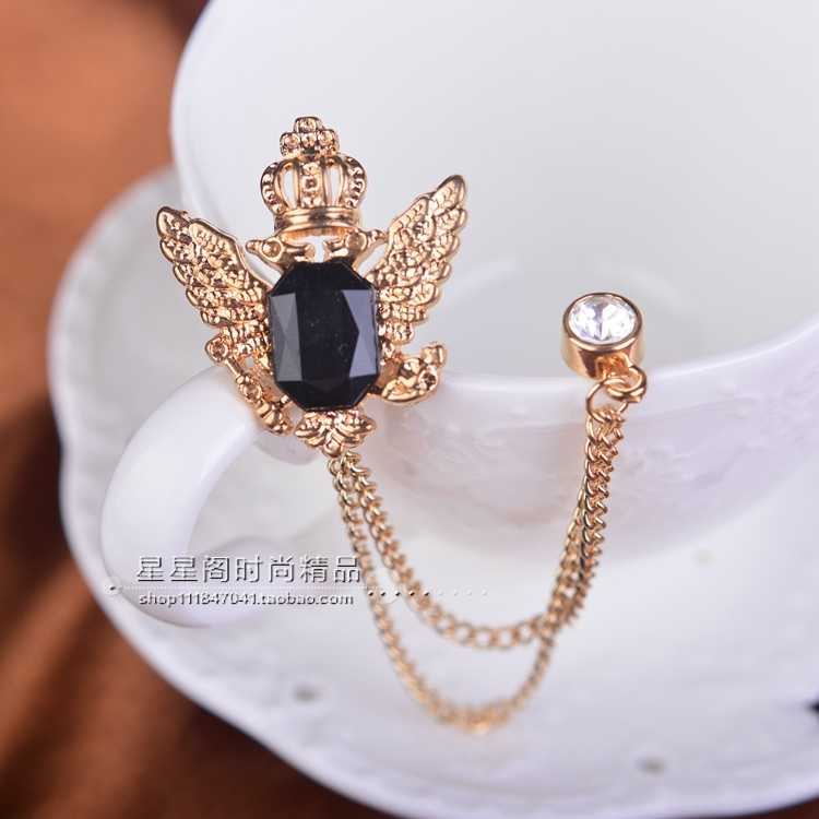 4ae636a6fcf ... 2017 Sale Time-limited Brooches For Broche Shirt Eagle Fringed Brooch  Double Corsage Needle Male ...