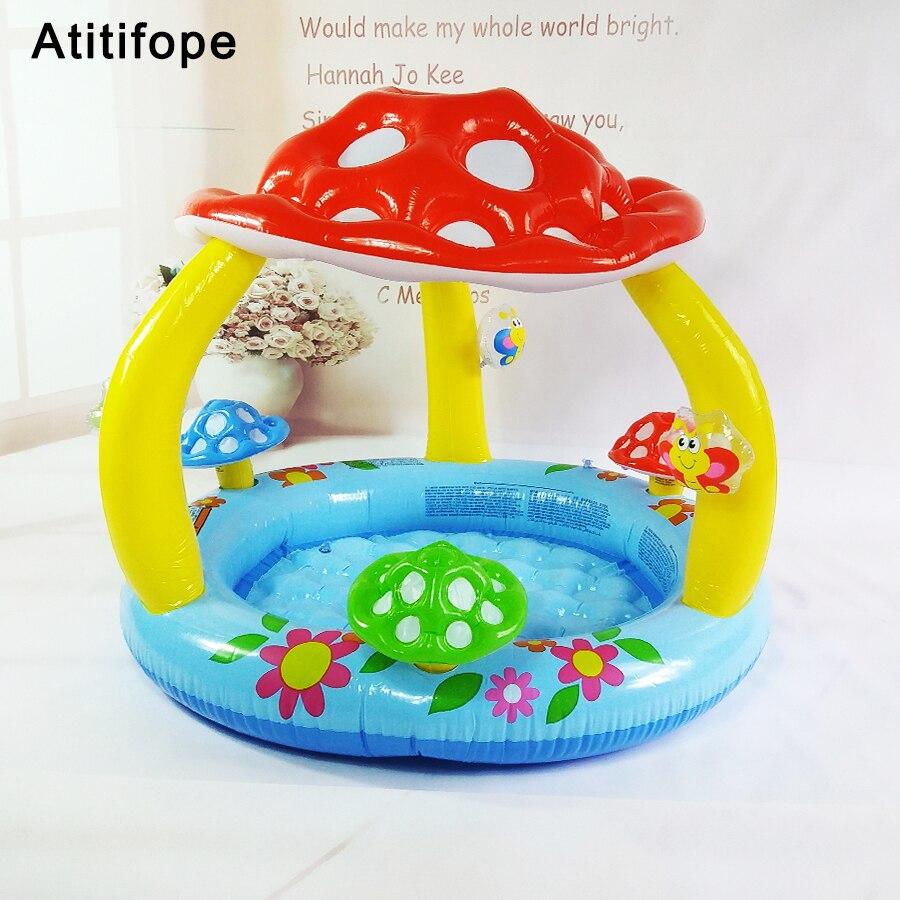 Piscine gonflable mignon en forme de champignon | Piscine de bonne qualité, couleurs vives, piscine gonflable pour enfants, piscine de jeu d'eau pour bébé