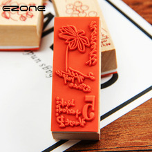 EZONE Vintage Badge Stamp Flower Pattern Badges Seal For DIY Photo Album Scrapbook Decoration School Office Supplies Papelaria