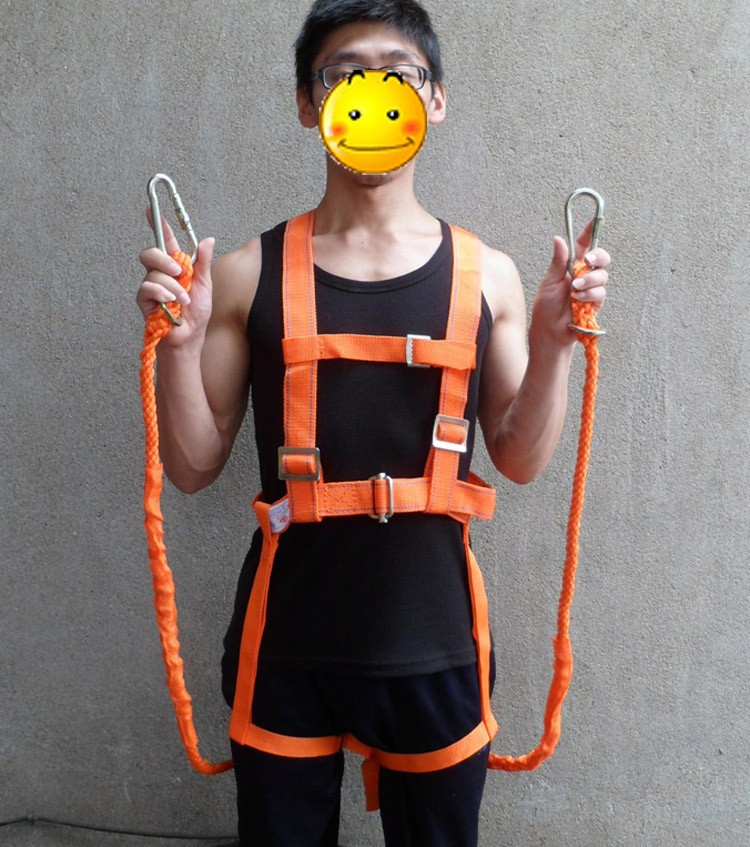 5m Mountain Climbing Rope Working Aloft Protective Belt Safety Harness Workplace Safety Supplies