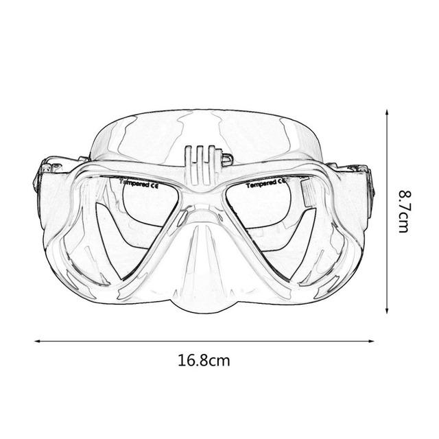 Underwater Camera Diving Mask with Snorkel for GoPro, EKEN, Xiaomi, SJCAM