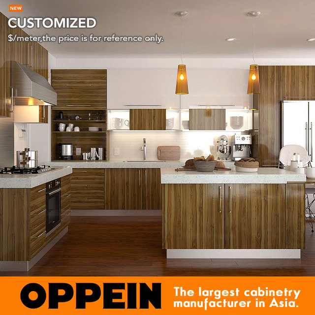 Contemporary Modern Cozy Wooden Kitchen Pantry Cupboards Op15 M09