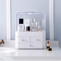Transparent Plastic Home Drawer Desk Desktop Storage Box Organiser Acrylic Makeup Organizer Make Up Organizer For Cosmetic