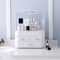 Transparent Plastic Home Drawer Desk Desktop Storage Box Organiser Acrylic Makeup Organizer Make Up Organizer For Cosmetic