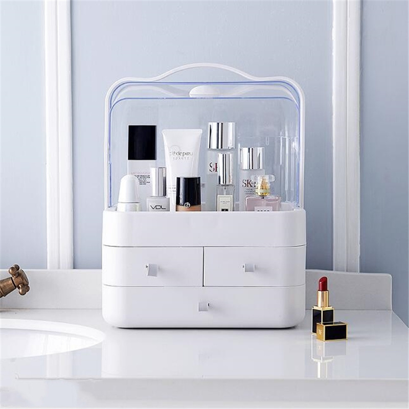 Transparent en plastique maison tiroir bureau boîte de rangement de bureau organisateur acrylique maquillage organisateur maquillage organisateur pour cosmétique