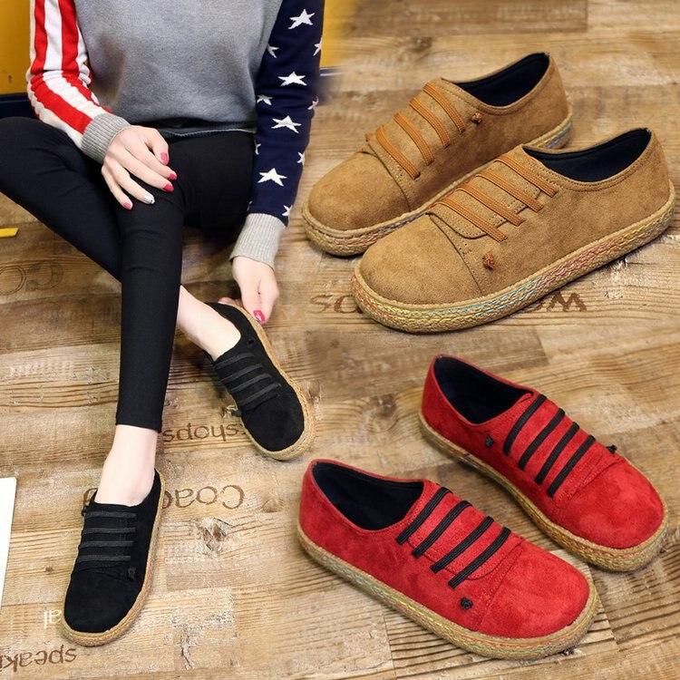 9a08a7ae Plus tamaño mujeres coreanas mocasines planos zapatos casuales zapatos de  los estudiantes de primavera y otoño Harajuku mujer punta redonda zapatos  planos ...