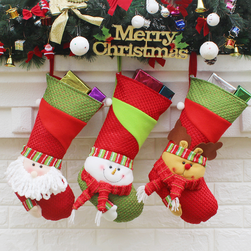 buy christmas stocking and get free shipping on aliexpresscom - Decorating Christmas Stockings