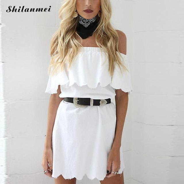 Schwangere Frauen Sommerkleid Weiß Sexy off schulter Strandkleid Lose Short mini  kleid party vestido ohne gürtel