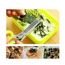 Stainless Steel Kitchen Scissors Kitchen Tools Five Green Onion Cut Multifunction Knife
