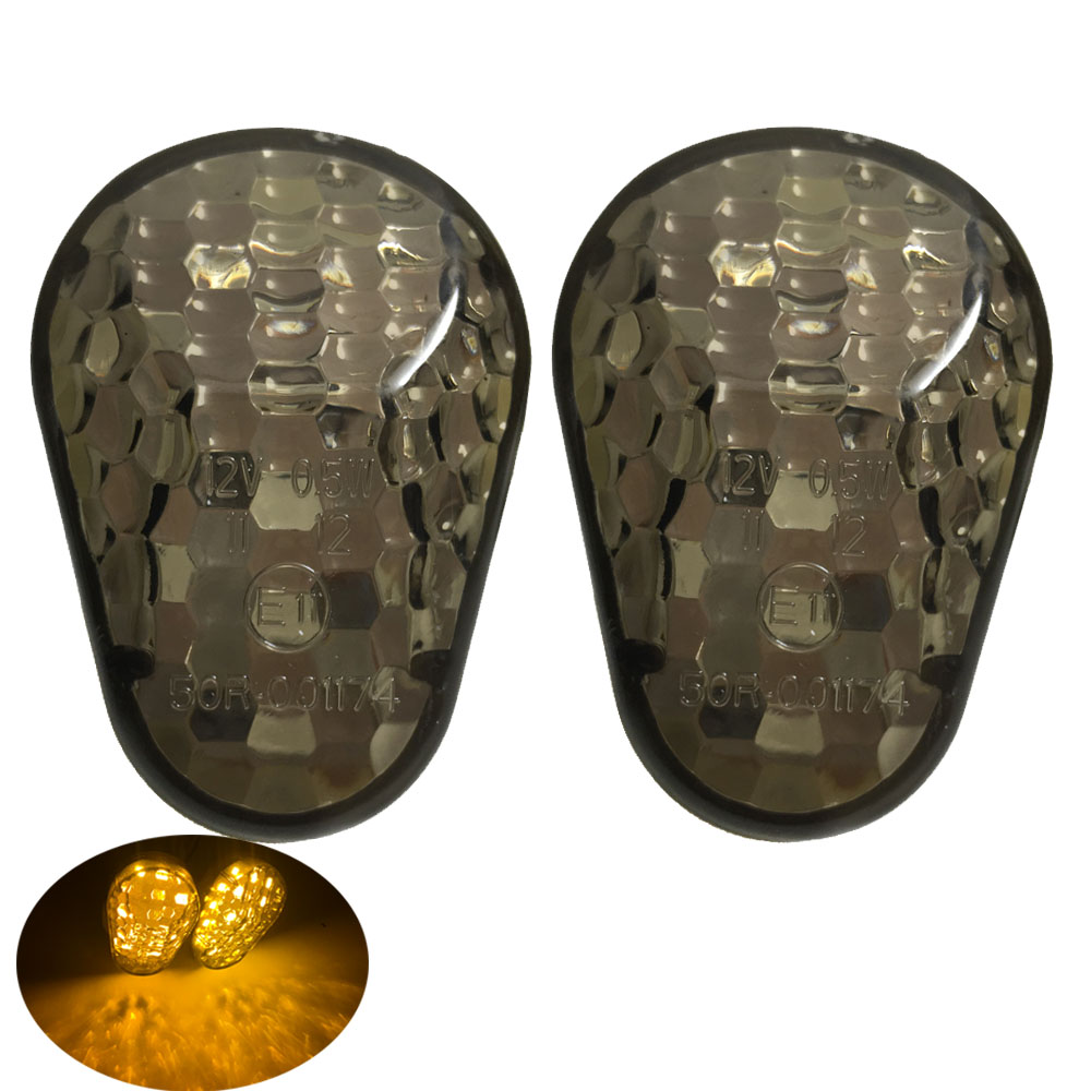 Motorcycle LED Turn Signals Light Flush Mount Flasher Indicator Blinker Lamp For Kawasaki ZZR600 ZX12R ZX6R ZX636 ZX9R ZX7R ZX6R