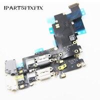 NOWA Ładowarka USB Dock Connector Port Ładowania Słuchawkowe Jack Audio Flex Cable Dla iPhone 6 S Plus 5.5''