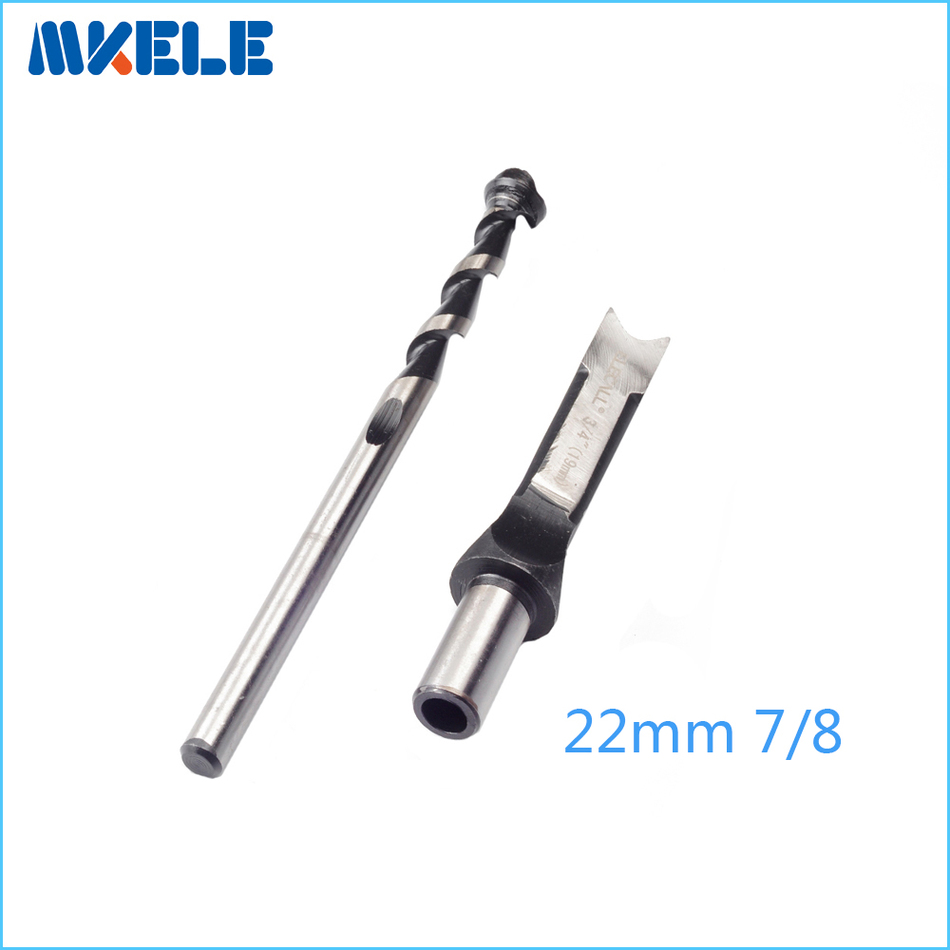 High Quality Woodworking drill bit wood tools Square Hole Bits Drill Mortising Chisel Set Mortiser Drill Bit Set jelbo cone step drill hole tools countersink 3pc drill bit set power tools step drill bit for metal power tools set hole cutter