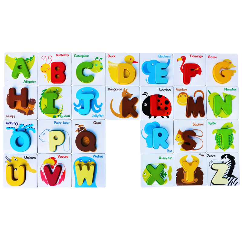 Super Cute Childrens Early Education Toys Wooden Numberanimal - Map reading for children