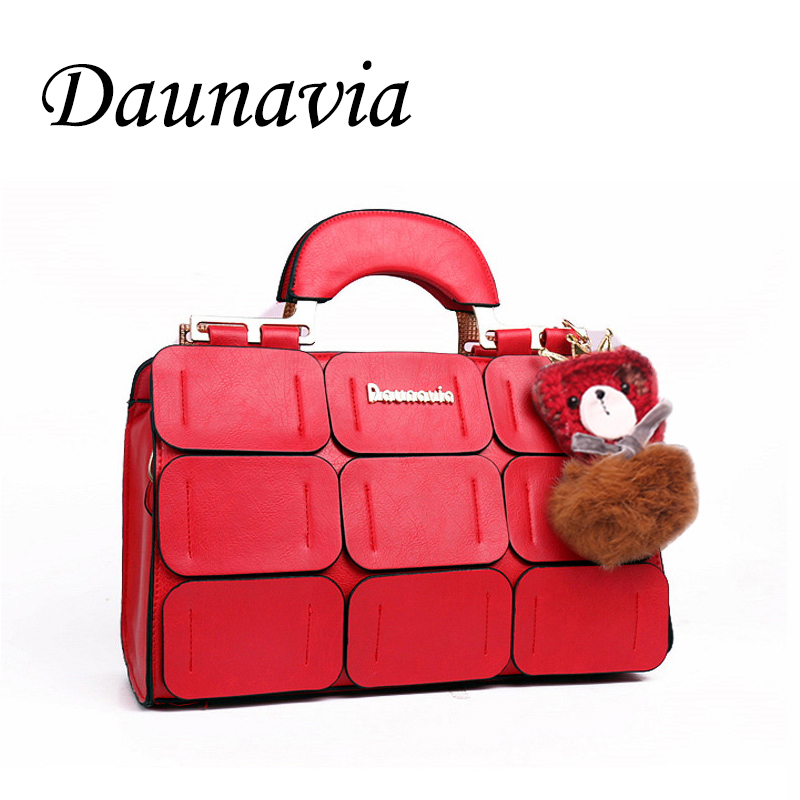 DAUNAVIASuture Boston bag inclined shoulder ladies women PU leather handbag  2017 woman bags handbags women famous brands ND008 2017 boston women messenger bags inclined shoulder ladies hand bag women leather handbag woman bags handbags women famous brands