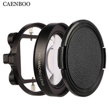 CAENBOO Action Camera Filters Go Pro Hero 3+ 4 Close Up Circular Filter For GoPro Hero5 Macro Magnifier Lens Adapter Ring Black